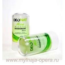 Натуральный дезодорант Кристалл ДеоНат С СОКОМ АЛОЭ и глицерином (стик зеленый) 60 гр