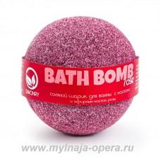 "Шарик для ванны с увлажняющими маслами ""Rose"" (роза), 130 гр ТМ Savonry"